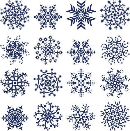 Snowflakes on white Stock Photo