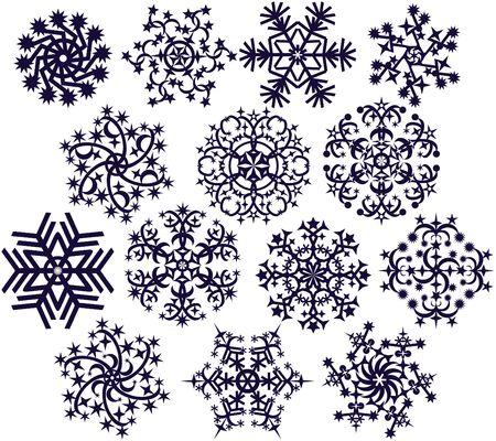 Snowflakes on white Reklamní fotografie