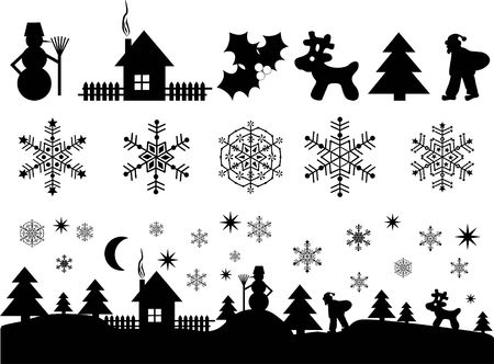 Christmas, New Years elements for design