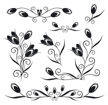 Elements for design (tulip, bud )