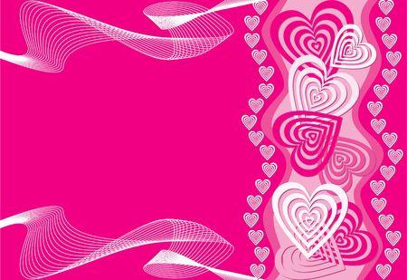 Heart background, illustration