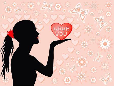 Love you, illustration illustration