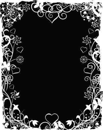 Grunge valentine background, illustration