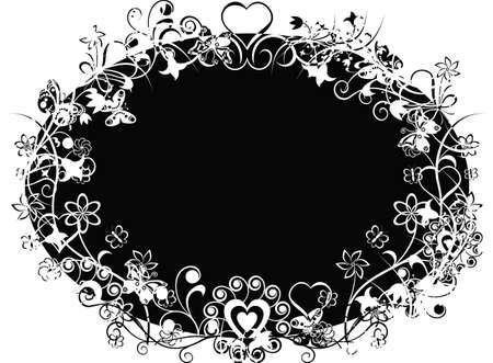 andamp: Grunge valentine background, illustration