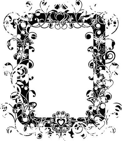 Grunge valentine frame Stock Photo