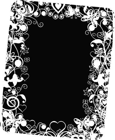 andamp: Grunge valentine frame Stock Photo
