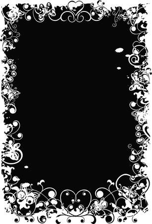 Grunge valentine background - v1