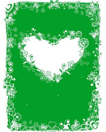 andamp: Grunge valentine frame, background