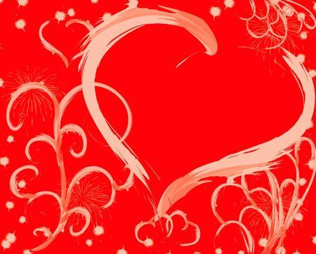 andamp: Valentine background, illustration Stock Photo