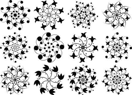 butterfly stroke: Elements for design, illustration
