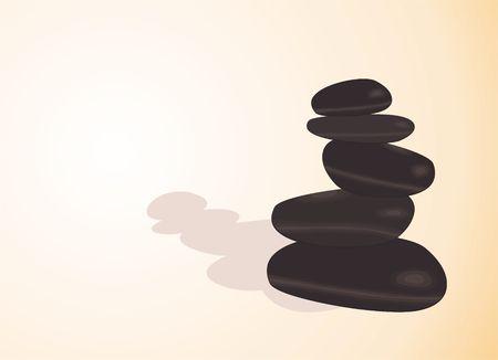 stacked stones: Balancing stones, illustration