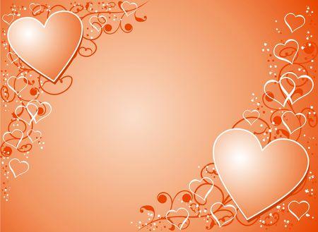 Valentine background, illustration Stock Photo