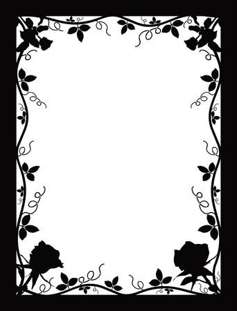 andamp: Frame with roses Stock Photo