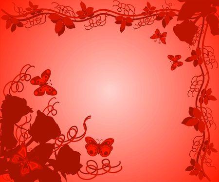Background with roses, illustration illustration