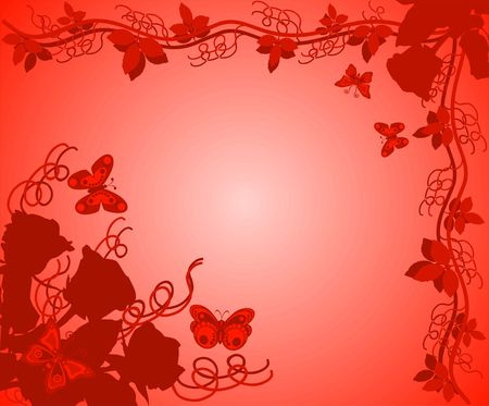 andamp: Background with roses, illustration Stock Photo