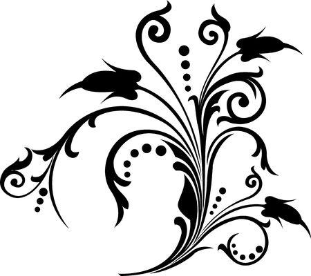 Scroll, cartouche, decor, illustration Reklamní fotografie