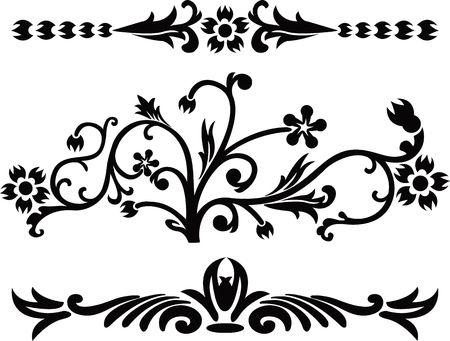 Scroll, cartouche, decor, illustration Stock Photo