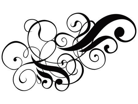 Scroll, cartouche, decor,  illustration Stock Illustration - 327272