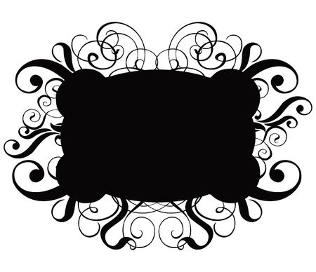 Scroll, cartouche, decor,  illustration Stock Illustration - 327306