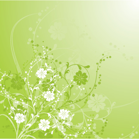 Floral background, vector illustration Stock Vector - 509850