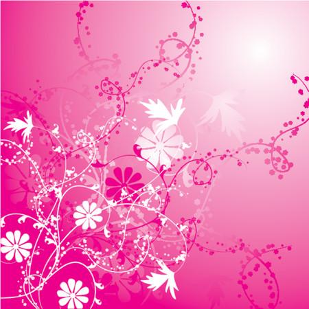 Floral background, vector illustration
