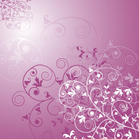 Floral background, vector illustration Stock Vector - 509826