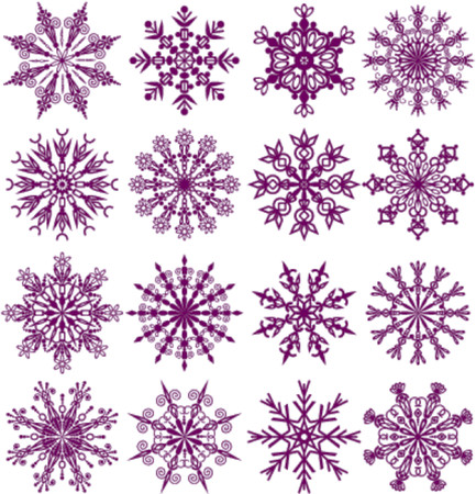Snowflakes, vector illustration Illustration