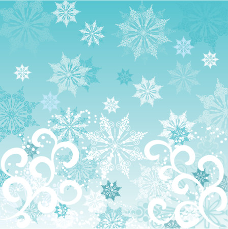 Winter background, vector illustration