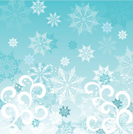 Winter background, vector illustration