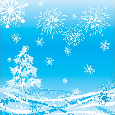 Winter background, vector illustration Vector