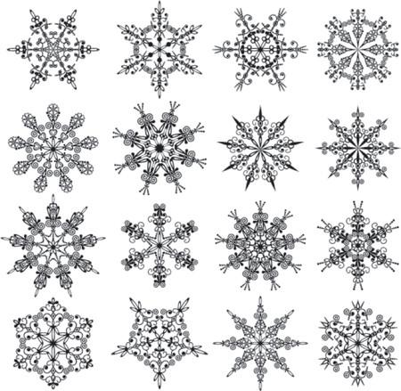 wintertime: Snowflakes, vector illustration Illustration