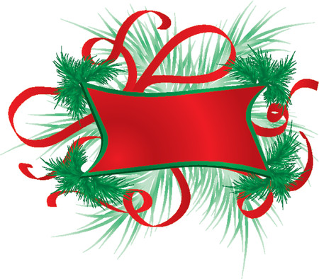 furtree: Christmas frame with a fur-tree, vector illustration