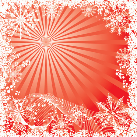 Winter, christmas background, vector illustration Vector
