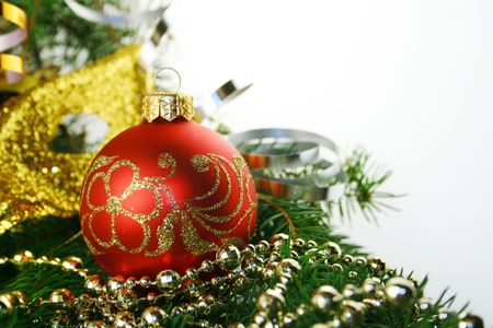 Christmas bauble on a white background Stock Photo