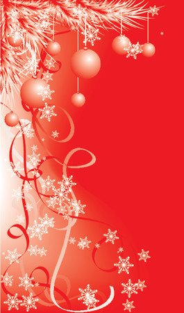 Christmas background with a snowflakes, vector illustration
