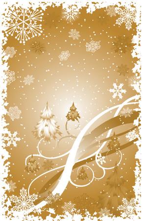 Grunge snowflakes background, vector illustration