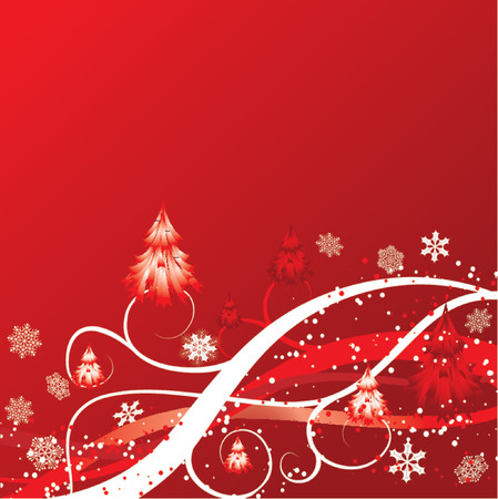 Christmas winter background, vector illustration Stock Vector - 667178