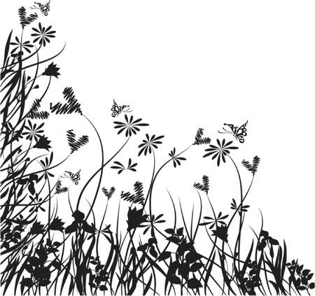 Valentine floral chaos, vector illustration