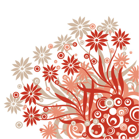 Floral background, vector illustration Stock Vector - 725584