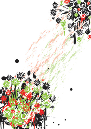 Grunge floral background, vector illustration Stock Vector - 725585