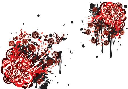 Grunge floral background, vector illustration Stock Vector - 725586