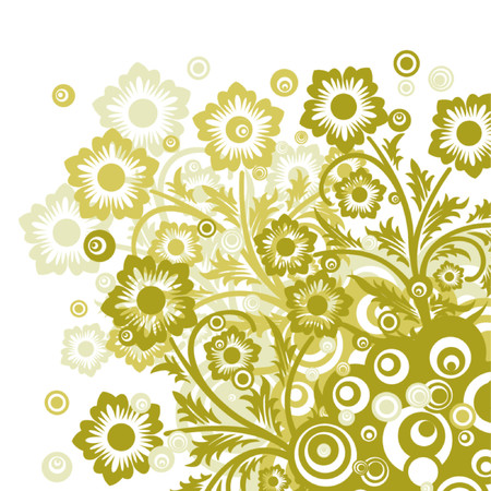 Floral background, vector illustration Stock Vector - 725587