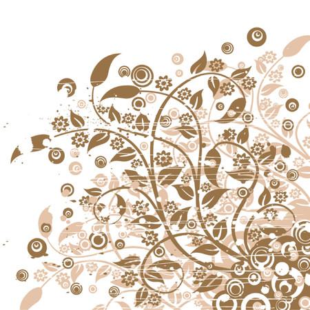 Grunge floral background, vector illustration Stock Vector - 725588