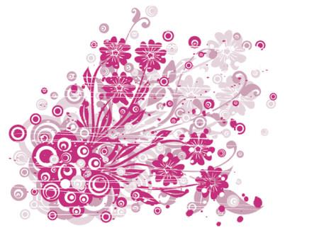 Grunge floral background, vector illustration Stock Vector - 725590