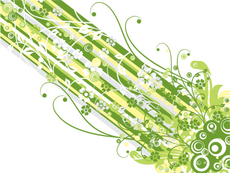 Floral background, vector illustration Stock Vector - 725596