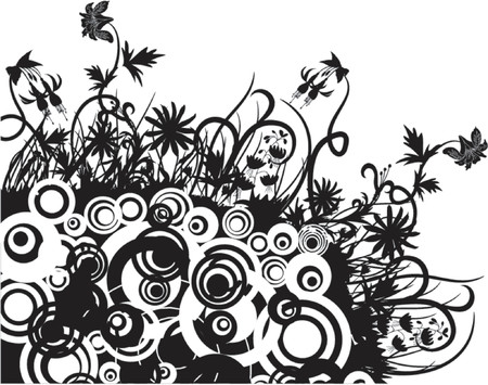 Floral chaos, vector illustration Ilustrace