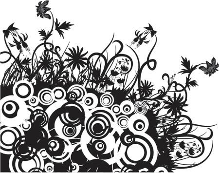 Floral chaos, vector illustration Illustration