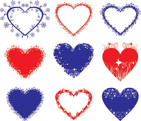 Hearts, Valentine frame, vector Ilustrace
