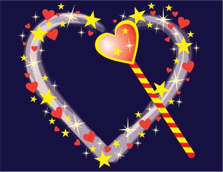lovestruck: Magic heart, vector illustration