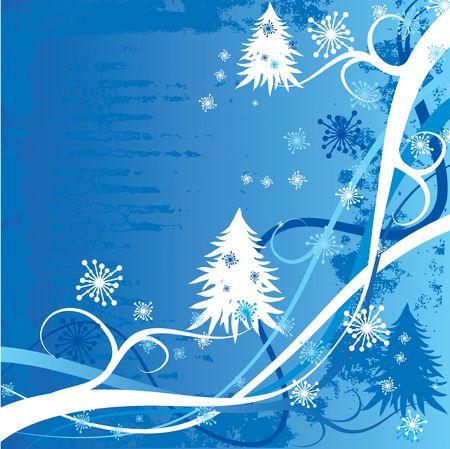 Grunge christmas winter background photo